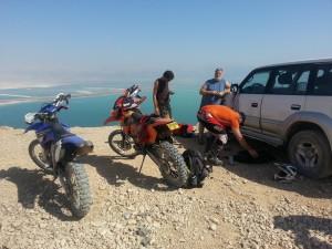 Cliff overlooking Dead Sea.