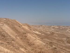 Barren landscape of the Judean Desert.