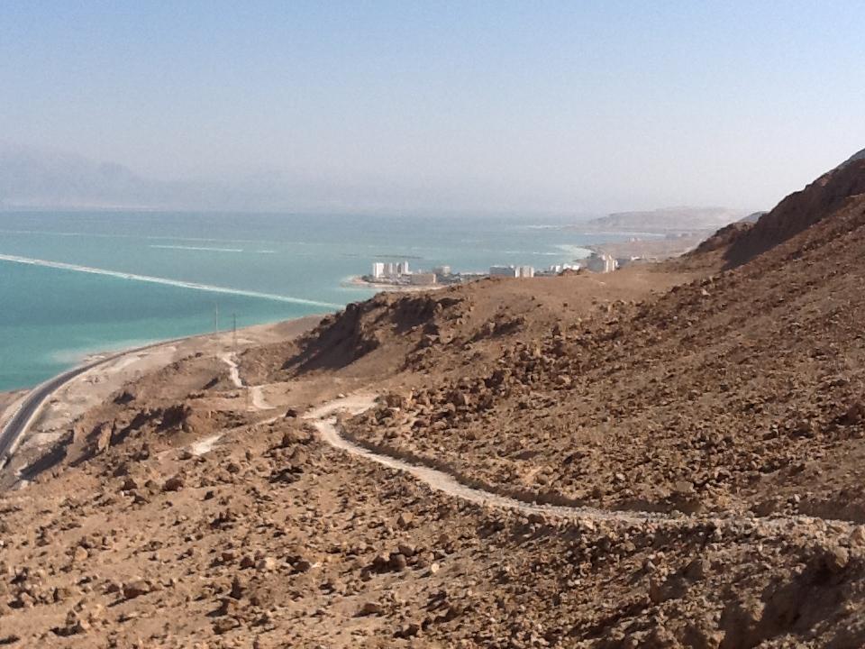 Track down the cliff to Ein Bokek.