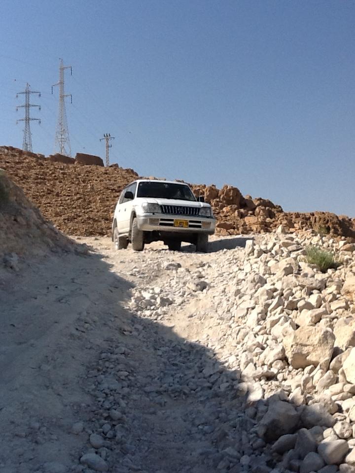 Prado on the track down to the Dead Sea.