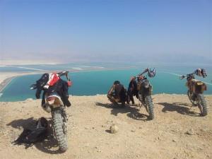 Above the Dead Sea.