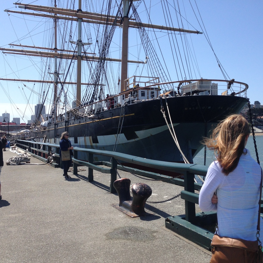 Tall ship at Hyde Street Pier, San Francisco.