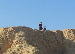 Ofer and Sean on the ridge above the camp.