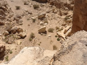 Wadi Hatzera from above.