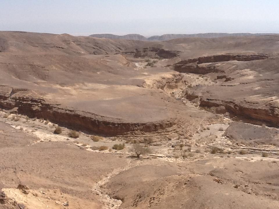 The commanding view from Metsad Katsra.