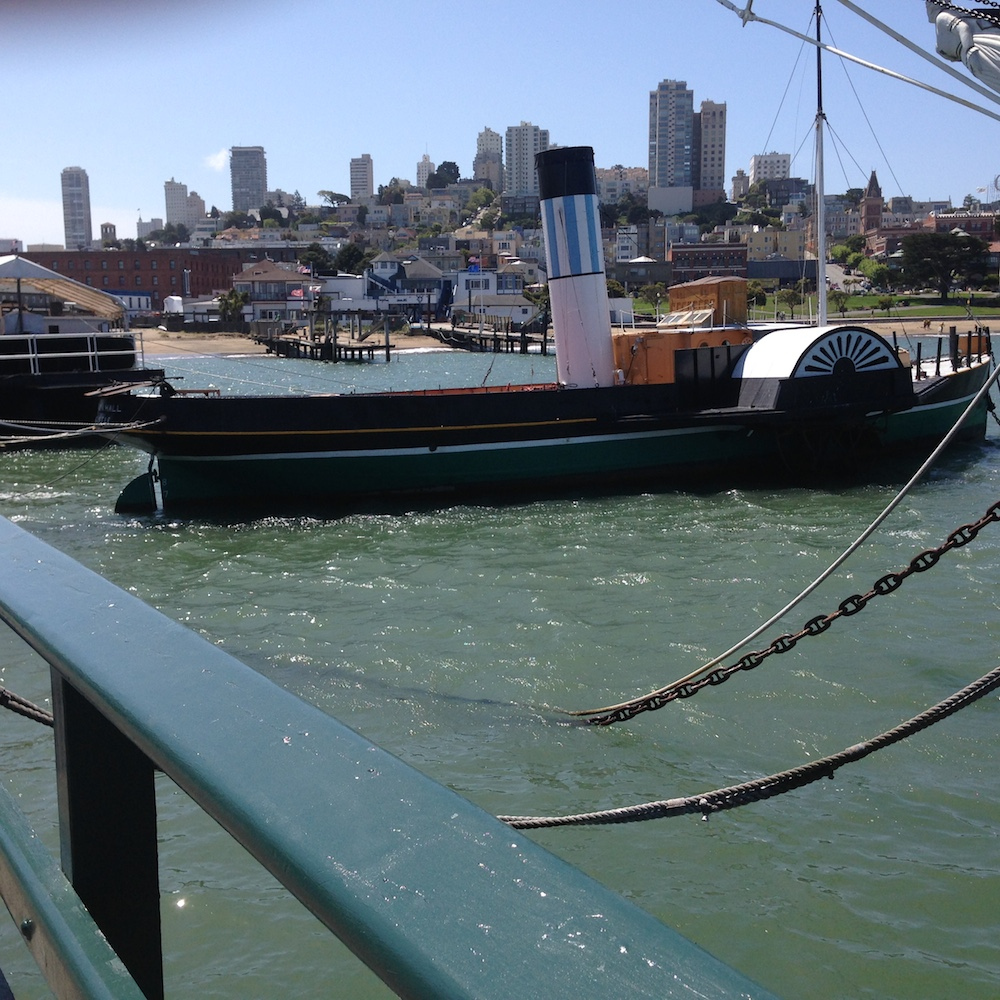 Paddle steamer at Hyde Street Pier, San Francisco.