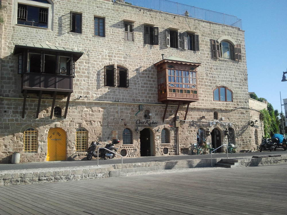 Buildings on the Jaffa seafront.