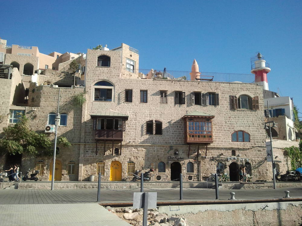 Buildings opposite the Jaffa Harbour.