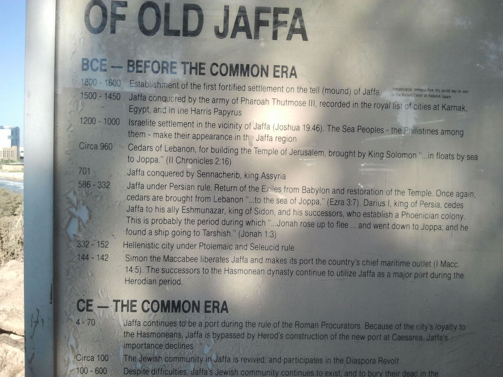 History of Old Jaffa.