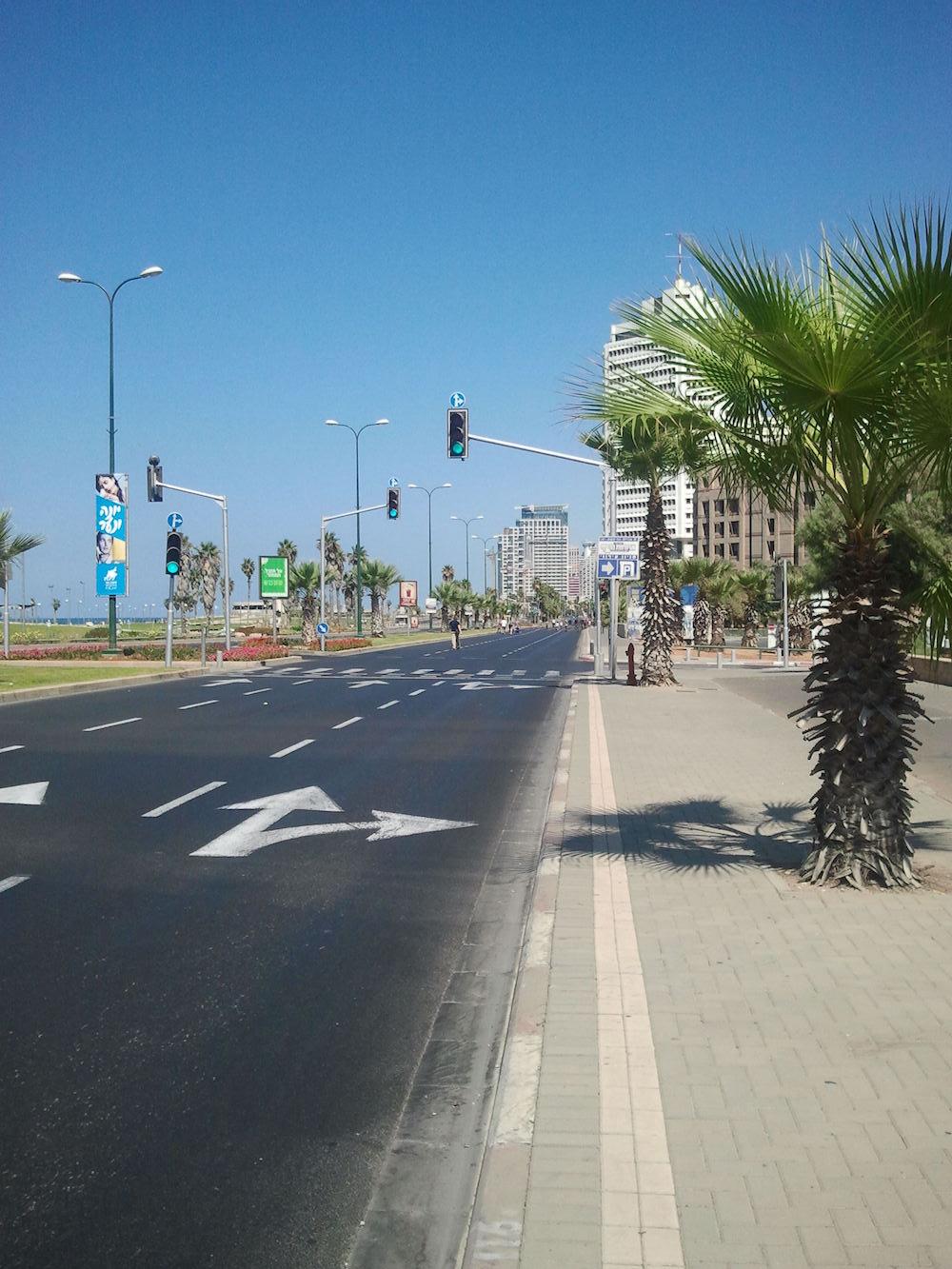 A very much deserted Jaffa.