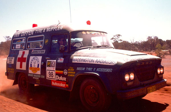 Ian Diffen's converted ambulance.