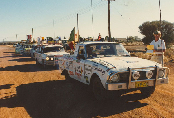 Start of the procession into Kalgoorlie.