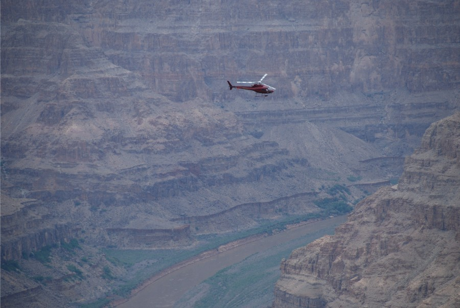 Tour the canyon by helicopter.