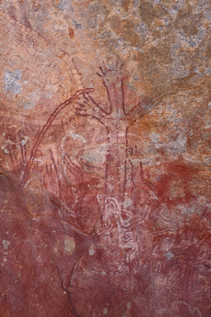 Indigenous artwork at Walga Rock.