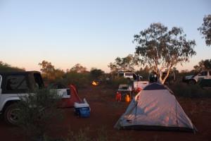 Bush camp past Wubin.