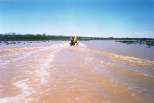 Spreading river.