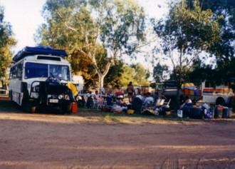 At Kalbarri Caravan Park.