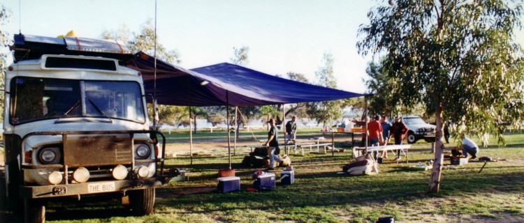 Our camp at Kalbarri Caravan Park.