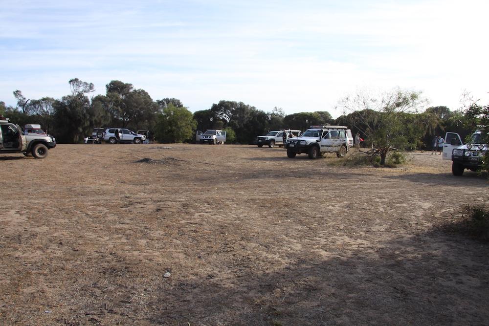 Open area campsite at Emu Rock