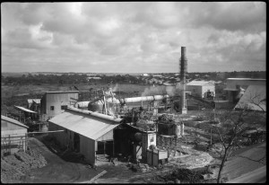 Potash works and town