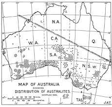 Distribution of Australites