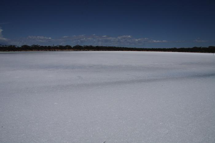 Salt lake.