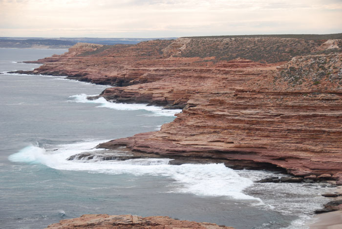 Cliffs south of Kalbarri.