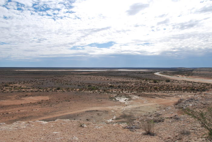 View from Breakaway Lookout, 50 km north of Overlander Roadhouse.
