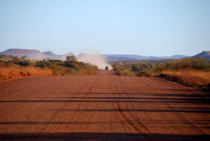 Approaching vehicle.