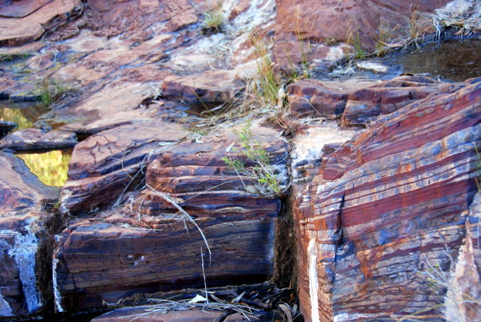 Banded rock in Dales Gorge