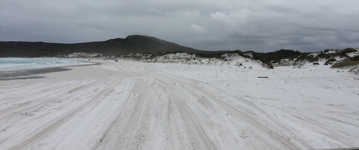 The white sands of Lucky Bay *