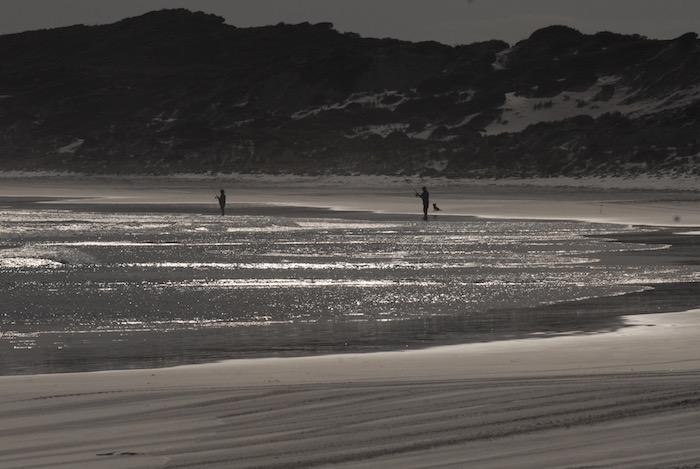 Fishers at Wharton Beach.