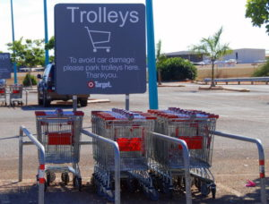 Tammy was fascinated by the Australian name of what she called 'shopping carts'.