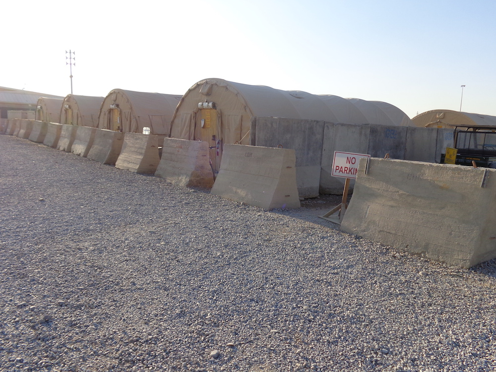 Accommodation for troops.