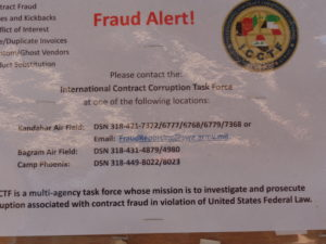 Fraud Alert notice at the Boardwalk.