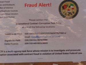 Fraud Alert notice at the Boardwalk.
