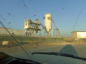 Concrete batching plant.
