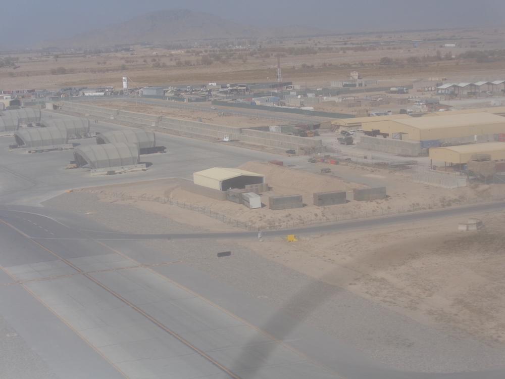 Approaching Kandahar Air Field.