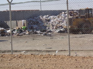 Rubbish disposal on a military airbase is an ongoing issue as in any populated place..