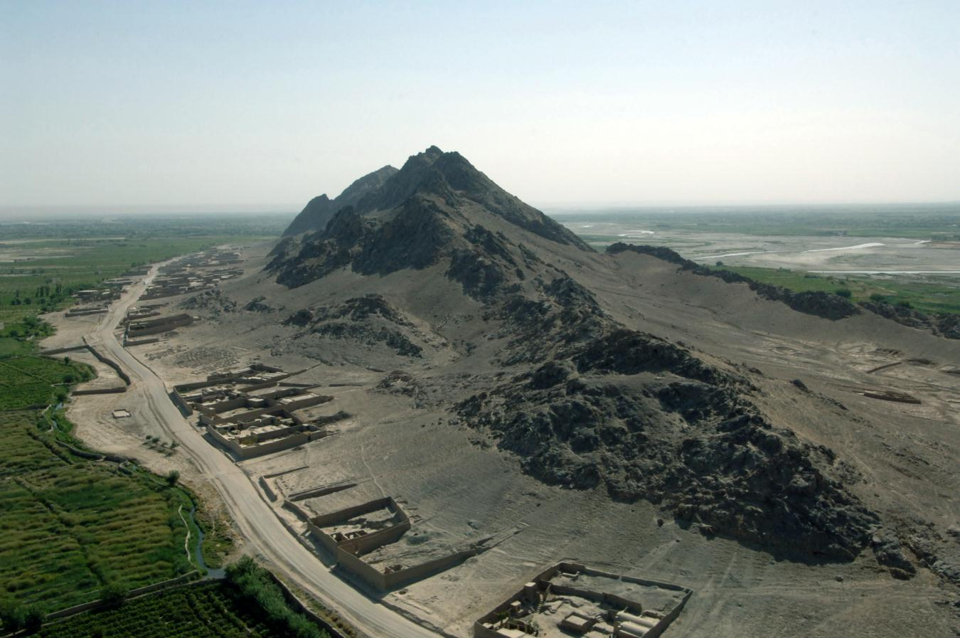 Three Mile Mountain, so called because of its distance from KAF.