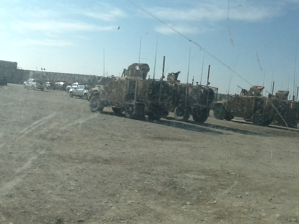 MRAPS parked up.