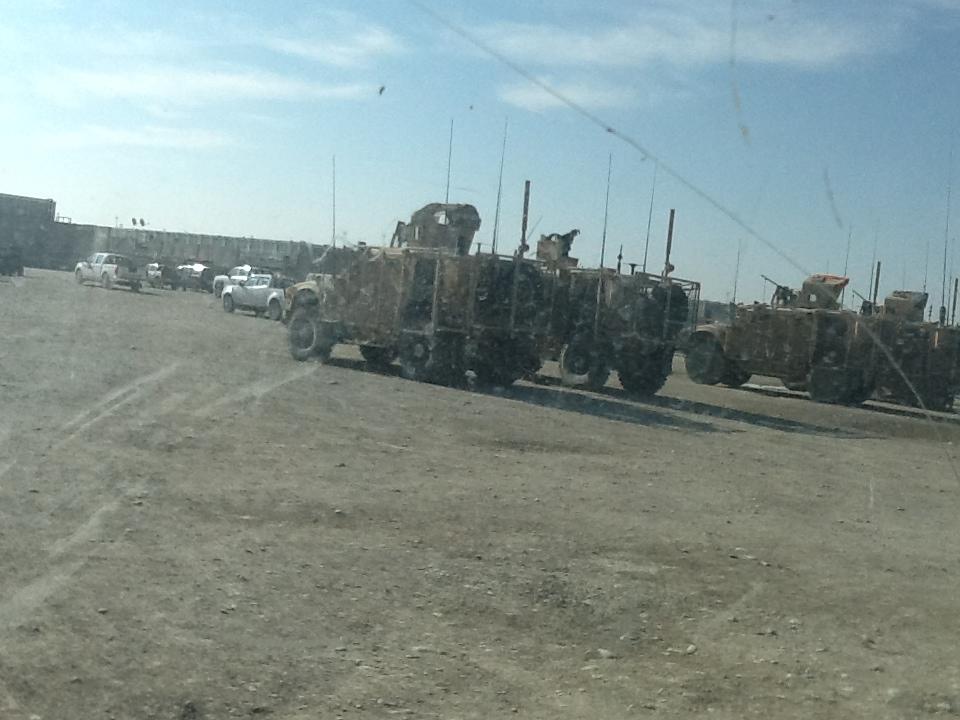MRAPS parked up.