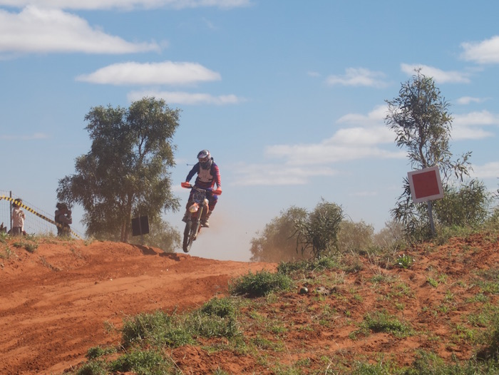 Racing to Finke.