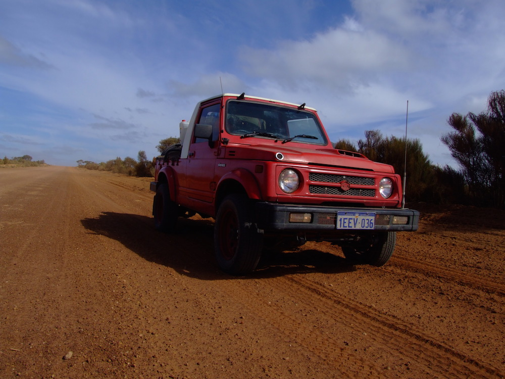 Cliff's Maruti Gypsy King.