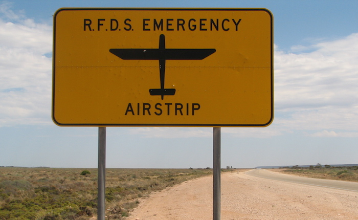 A number of sections of the Eyre Highway are used as emergency air strips for the Flying Doctor.