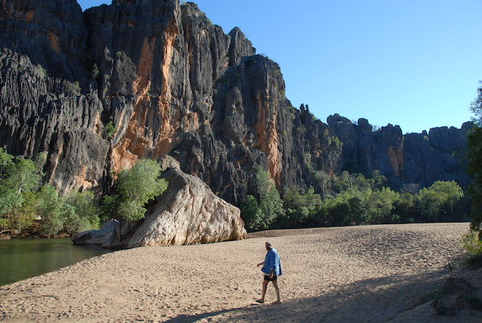 Kim Howard at Windjana Gorge.