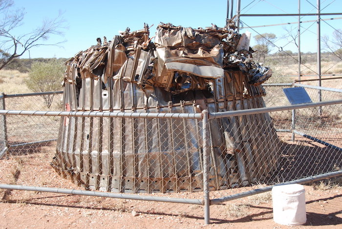 Remains of Blue Streak rocket.