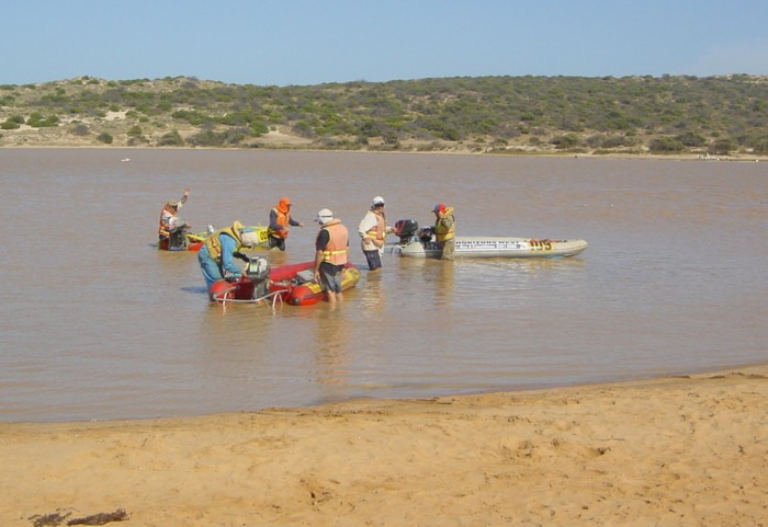 Kalbarri - at the mouth of the river.