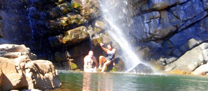 Kim and Tammy at Lennard Gorge.