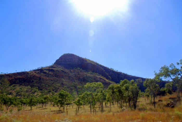 Unnamed peak in the King Leopold Range on the drive into Lennard Gorge.